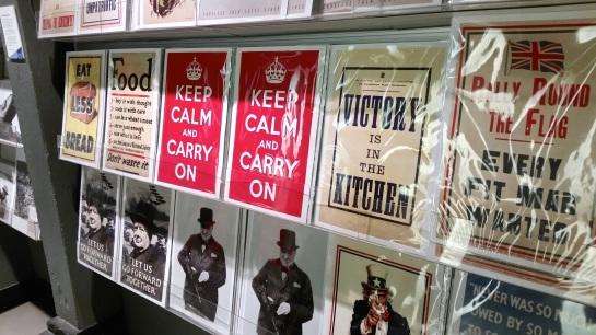 Churcill War Rooms'ta sloganlar...