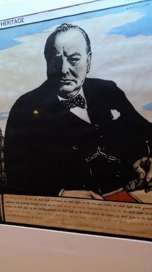Churchill'in ünlü konuşması Tren Müzesi'nde kağıda dökülmüş...