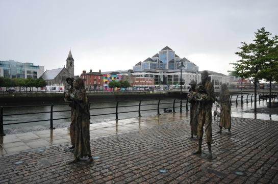 Dublin'deki Kıtlık Heykelleri...